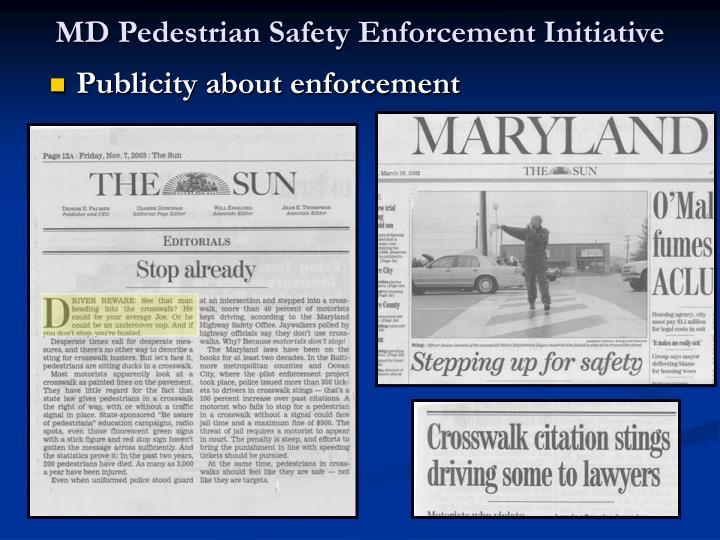 MD Pedestrian Safety Enforcement Initiative