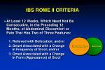 ibs rome ii criteria