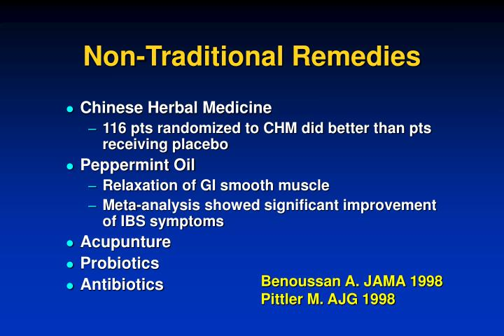 Non-Traditional Remedies
