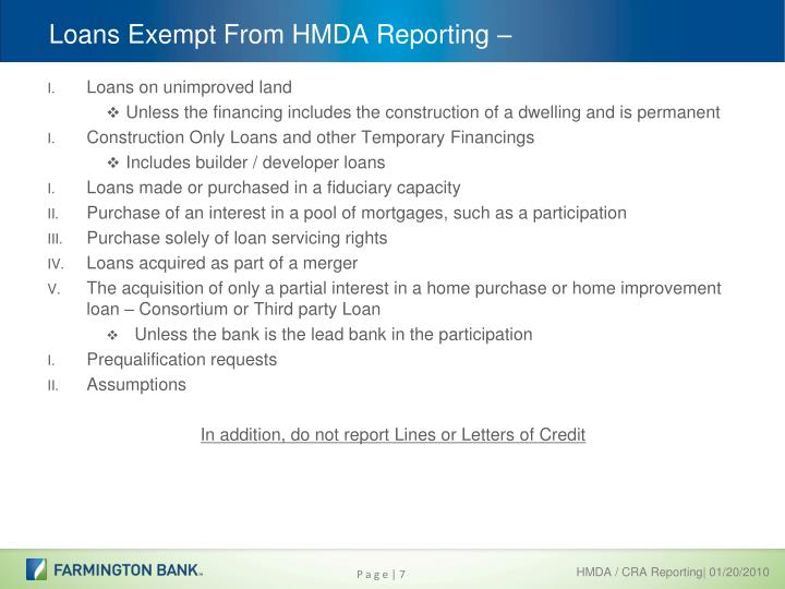 Ppt hmda cra data collection powerpoint presentation for Interest only construction loan