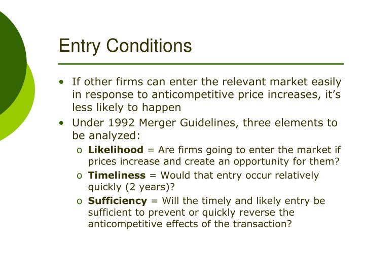 Entry Conditions