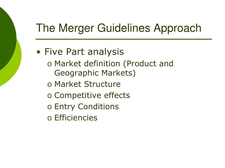 The Merger Guidelines Approach