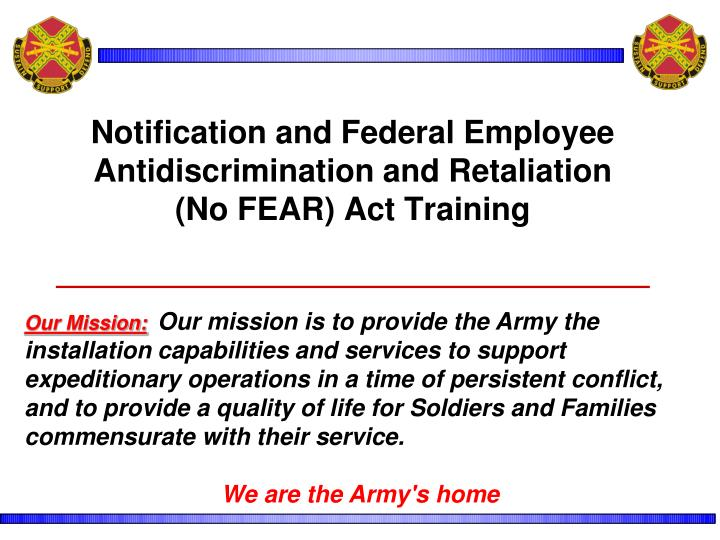 Notification and Federal Employee Antidiscrimination and Retaliation