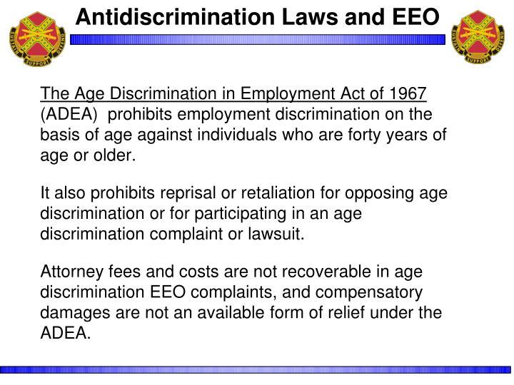 Antidiscrimination Laws and EEO