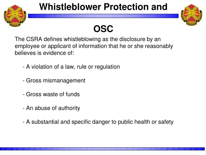 Whistleblower Protection and