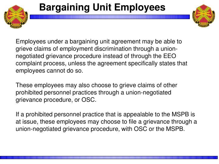Bargaining Unit Employees