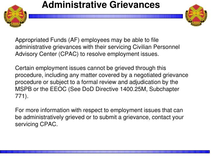 Administrative Grievances