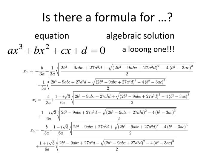 Is there a formula for …?