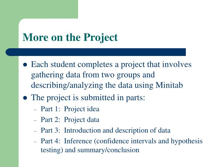 More on the Project
