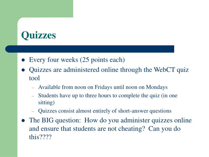 Quizzes