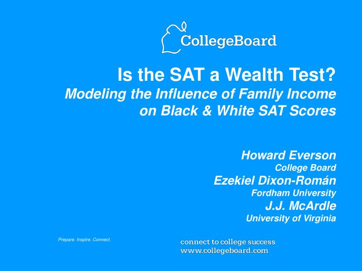 Is the SAT a Wealth Test?