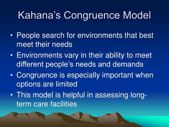 Kahana's Congruence Model