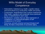 willis model of everyday competence
