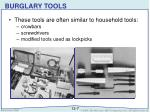 burglary tools