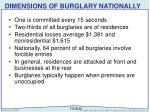 dimensions of burglary nationally