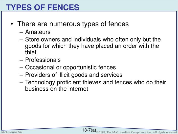 TYPES OF FENCES