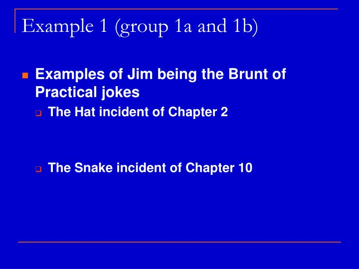 Example 1 (group 1a and 1b)