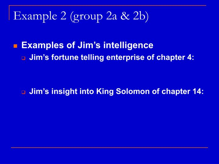Example 2 (group 2a & 2b)