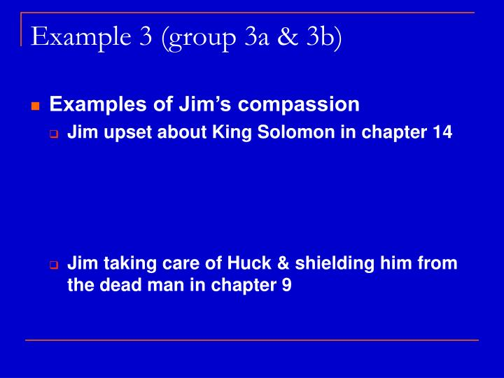 Example 3 (group 3a & 3b)