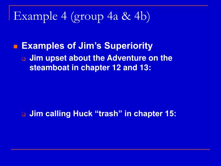 Example 4 (group 4a & 4b)