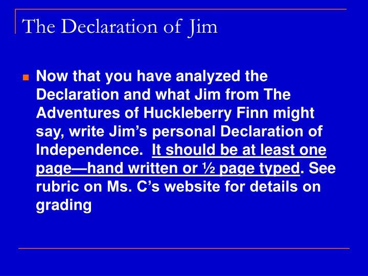 The Declaration of Jim