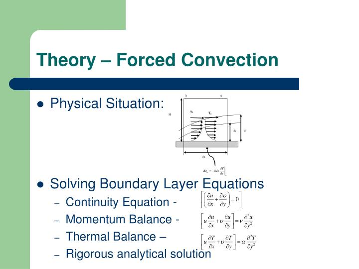 Theory – Forced Convection