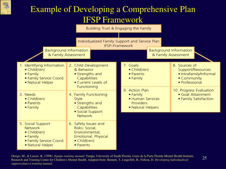 Example of Developing a Comprehensive Plan