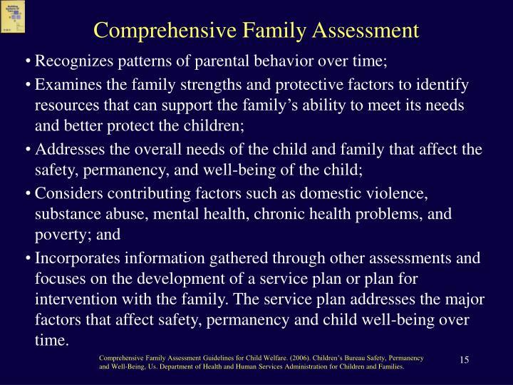 Comprehensive Family Assessment