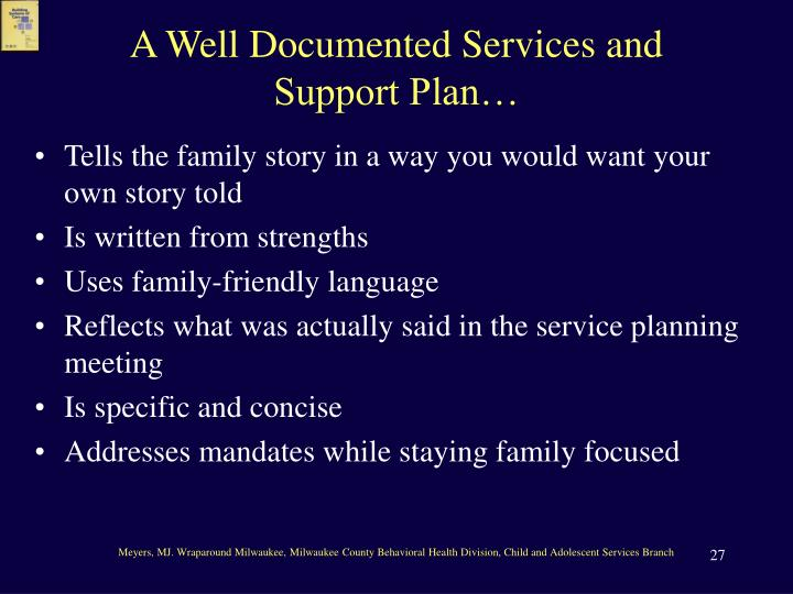 A Well Documented Services and