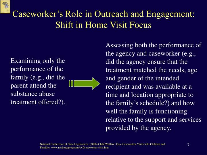 Caseworker's Role in Outreach and Engagement: