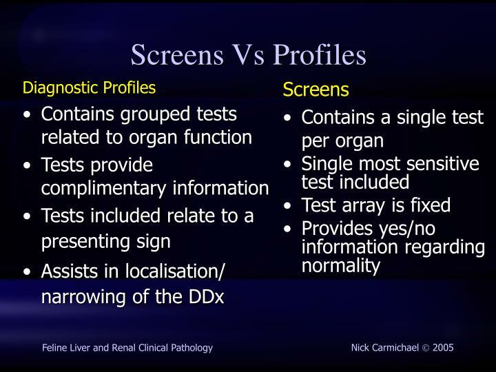 Diagnostic Profiles