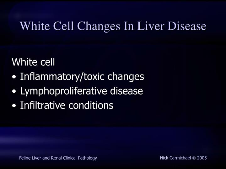 White Cell Changes In Liver Disease