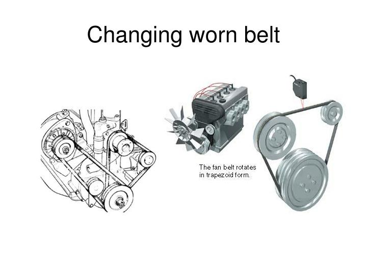 Changing worn belt