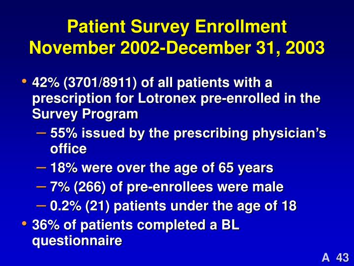Patient Survey Enrollment