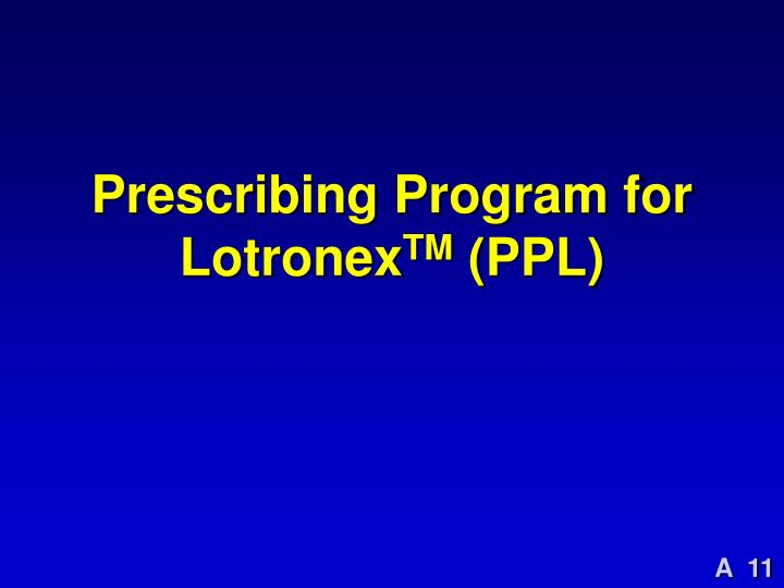 Prescribing Program for Lotronex