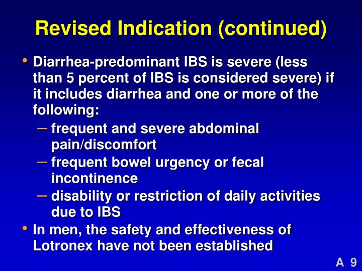 Revised Indication (continued)