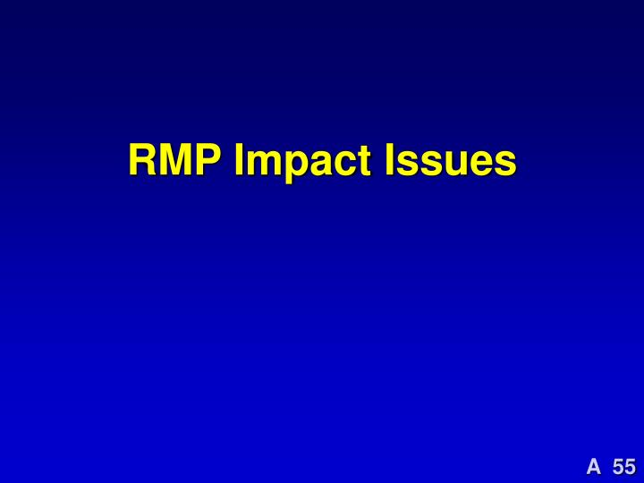 RMP Impact Issues