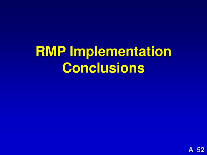 RMP Implementation