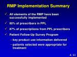 rmp implementation summary