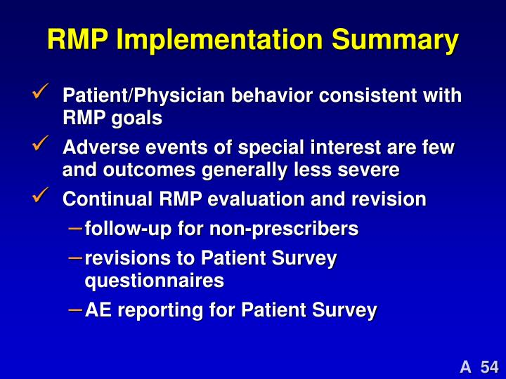 RMP Implementation Summary