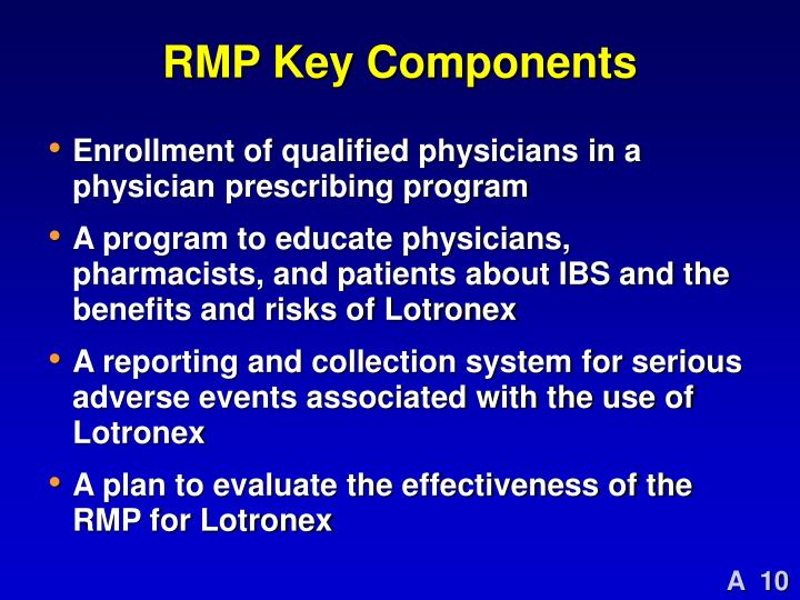 RMP Key Components