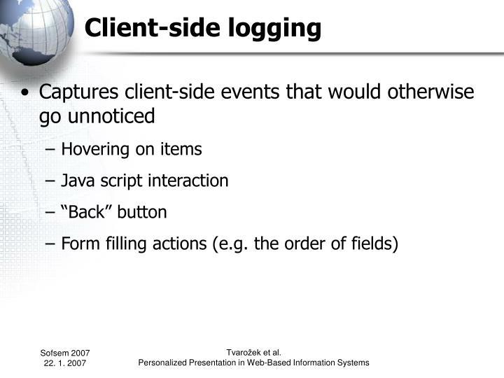 Client-side logging