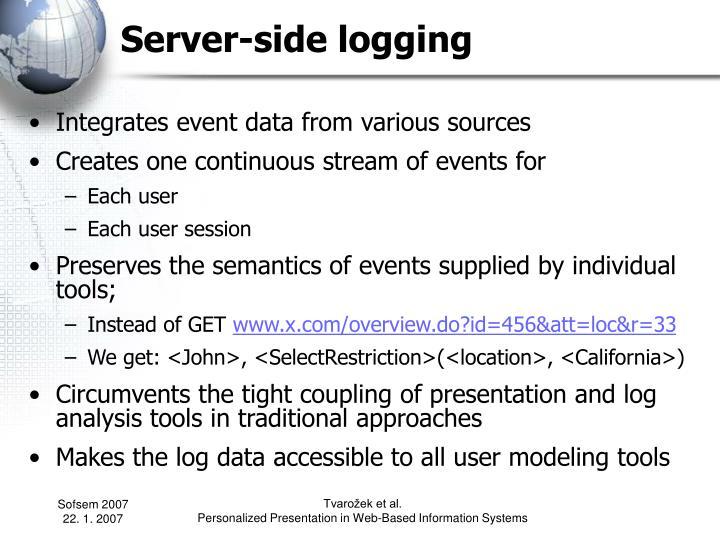 Server-side logging