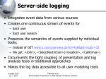 server side logging