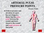 arterial pulse pressure points