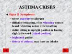 asthma crises