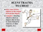 blunt trauma to chest