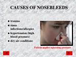 causes of nosebleeds