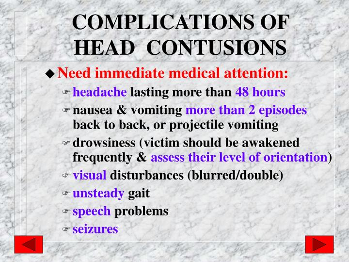 COMPLICATIONS OF