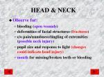 head neck
